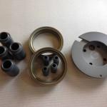 Aluminiumdrehteile harteloxiert