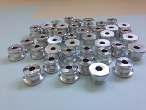 Drehteile aus Aluminium für Elektro Versuchsauto